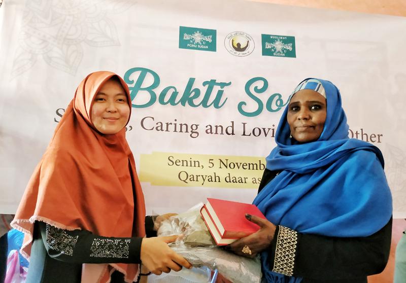 PCINU dan Muslimat NU Sudan Gelar Bakti Sosial