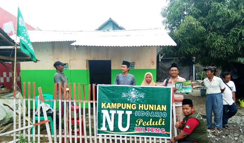 LAZISNU Sidoarjo Bangun 10 Huntara Korban Sulawesi Tengah