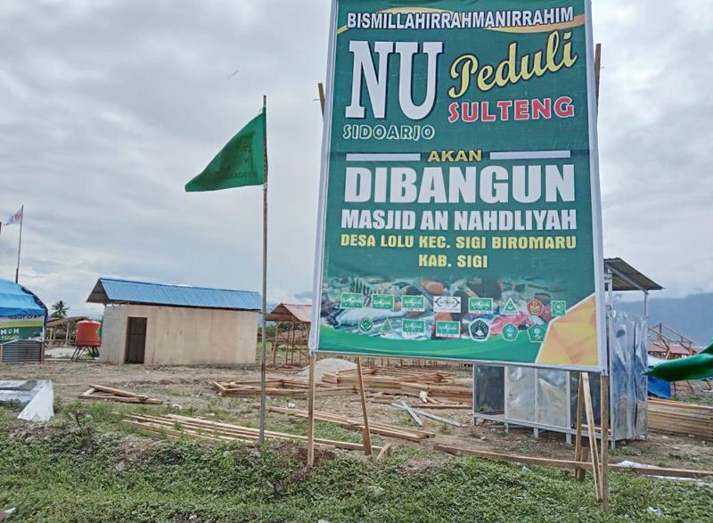 LAZISNU Sidoarjo Bangun Masjid di Sulawesi Tengah