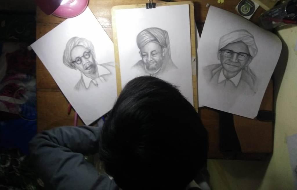 Mahasiswa Jombang Ini Raih Jutaan Rupiah dengan Sketsa Wajah