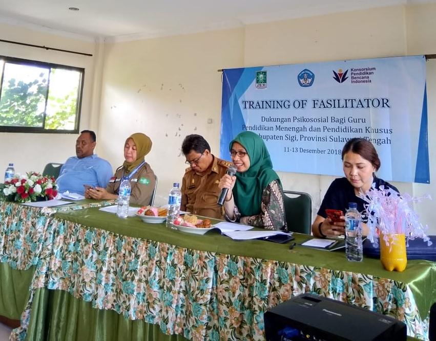 LPBI NU dan Kemendikbud Gelar Training Penanganan Bencana untuk Guru di Sulteng