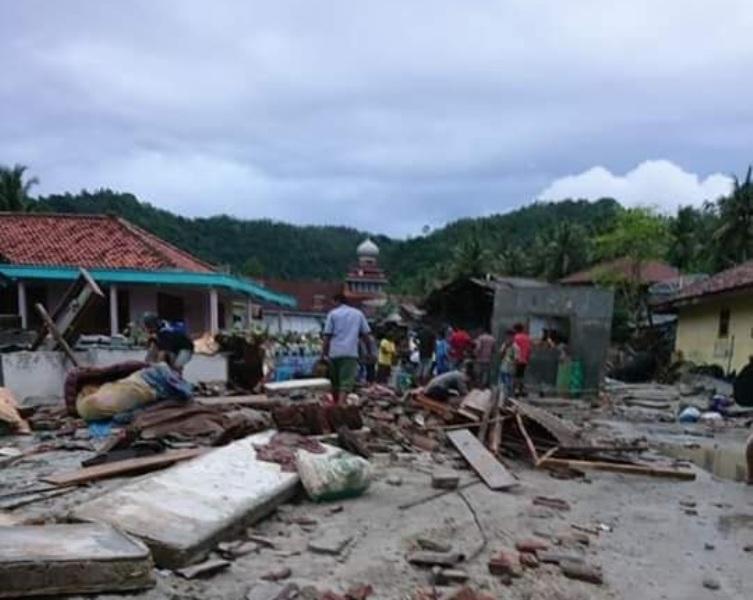 Tim NU Peduli Bangun Posko di Banten dan Lampung usai Tsunami