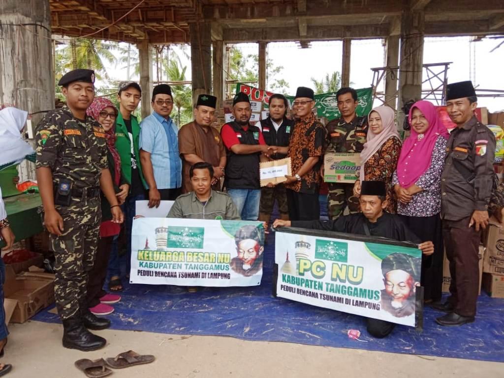 Awali Tahun 2019, PCNU Tanggamus Bantu Korban Tsunami