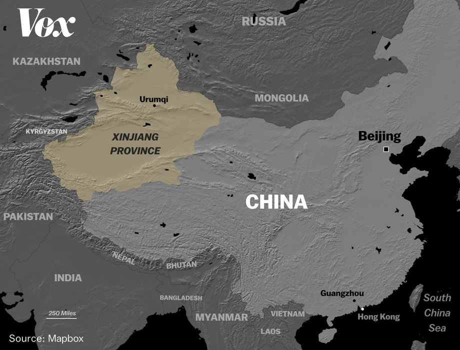 Xinjiang displays evidence of violent attacks in 1992-2015
