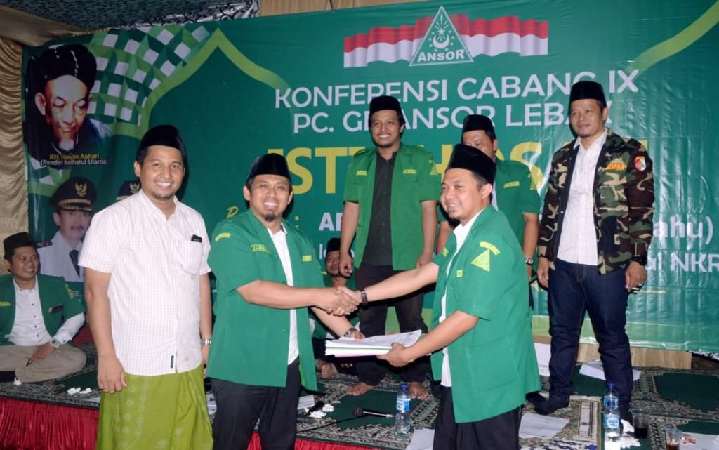 Deden  Al-Farhan Terpilih Jadi Ketua Cabang GP Ansor Lebak