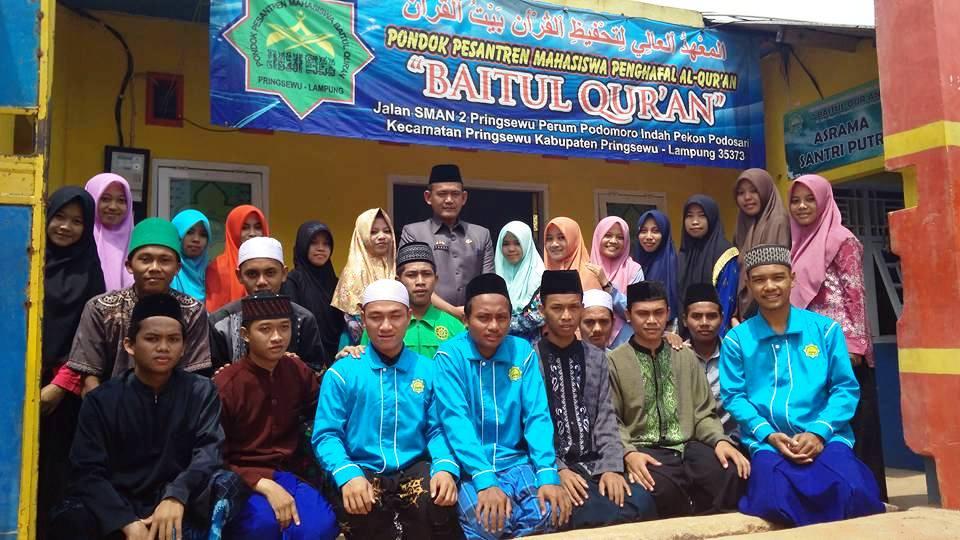 Pesantren Baitul Qur'an Pringsewu Luluskan Santri Yatim Piatu Hafiz dan Sarjana