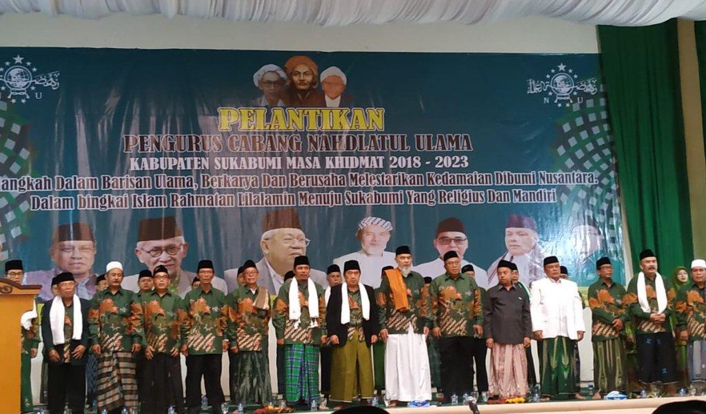 Dilantik, PCNU Kabupaten Sukabumi Diminta Bentuk dan Rawat NU di Desa-desa