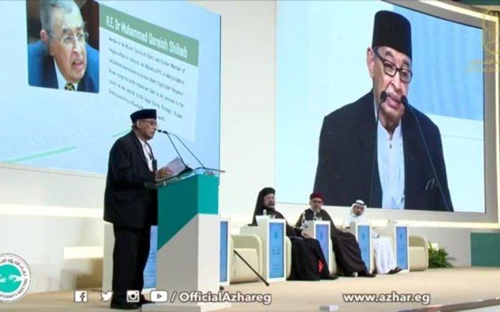 Isi Pidato Lengkap Quraish Shihab dalam Pertemuan Pemimpin Agama Sedunia