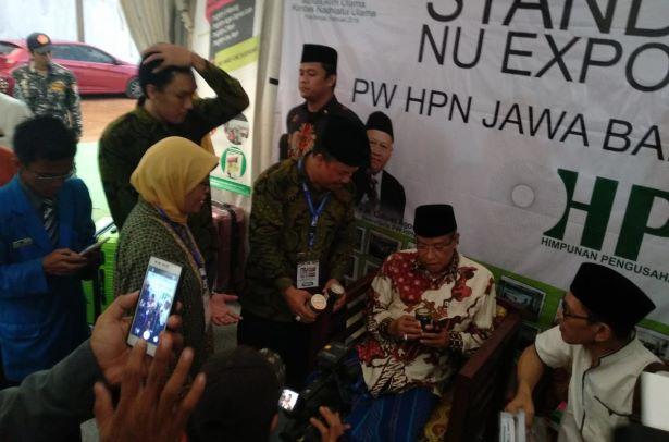 Kala Kiai Said Kunjungi Stan Madu Hidayah