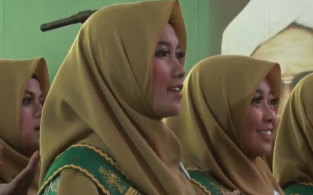Shalawat Nahdliyah Disenandungkan di Hadapan Presiden Jokowi