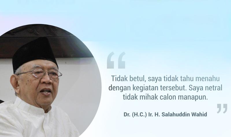 Gus Sholah Bantah Dukung Salah Satu Capres