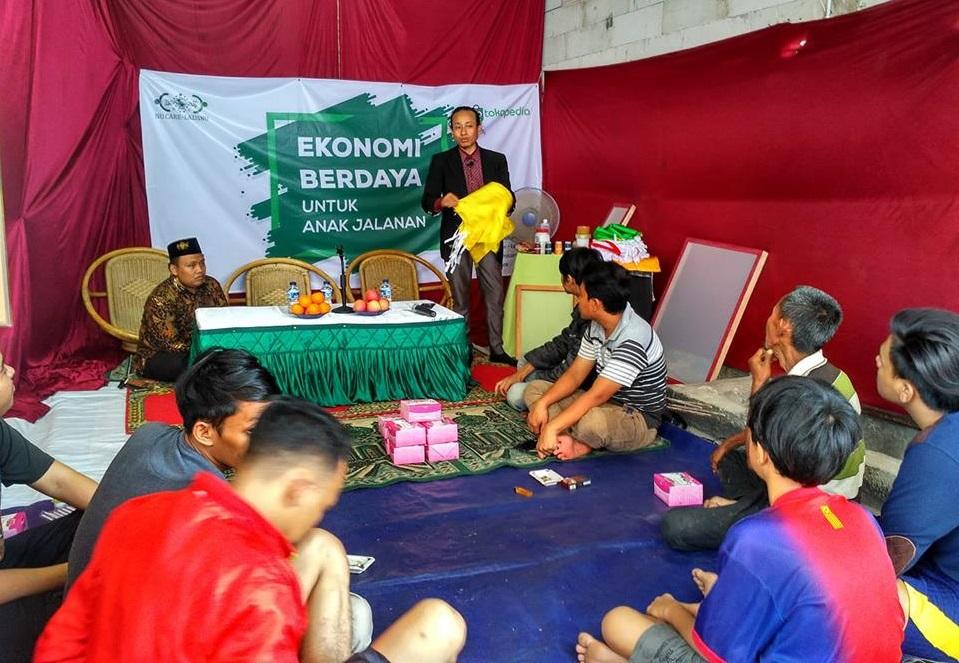 LAZISNU Latih Anak Jalanan di Jakarta Pusat Keterampilan Sablon