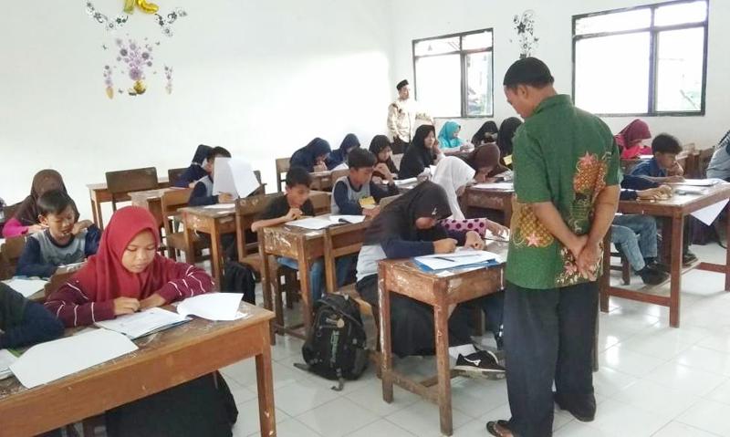 Asah Kemampuan Siswa SD/MI, Pelajar NU Kademangaran Tegal Gelar Try Out USBN