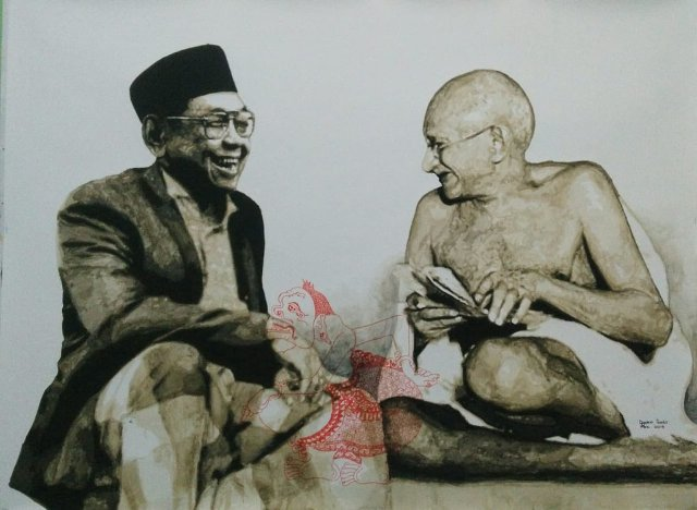 Gus Dur and Mahatma Gandhi's painting will be displayed in Bulgaria