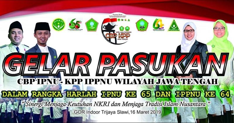 Meriahkan Harlah IPNU-IPPNU Jawa Tengah, CBP-KPP Apel Gelar Pasukan