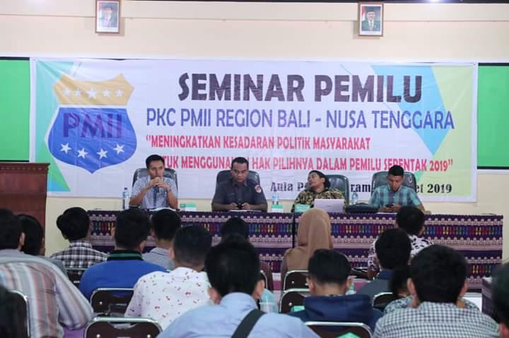Ajak Generasi Tidak Golput, PMII NTB Gelar Seminar Pemilu