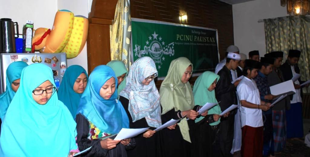 Pengurus Tanfidziyah NU dan Fatayat NU Pakistan Dilantik