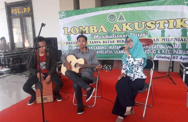 Gaet Milenial, Pelajar NU Cirebon Gelar Lomba Akustik