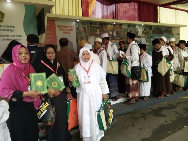 Stand Pameran Buku Kemenag di Forum Sufi Dunia Diserbu Pengunjung