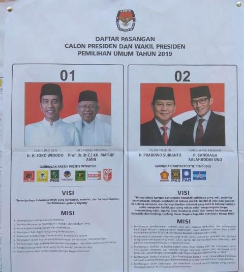 Jokowi-Amin Unggul di TPS Gus Dur Ciganjur