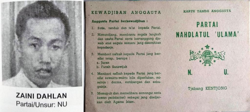 KH Zaini Dahlan: Pendiri dan Penggerak NU Tjabang Kentjong