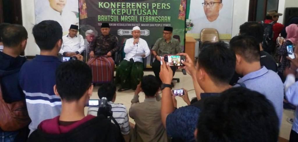 NU Jatim Tegaskan People Power Bertentangan dengan Agama