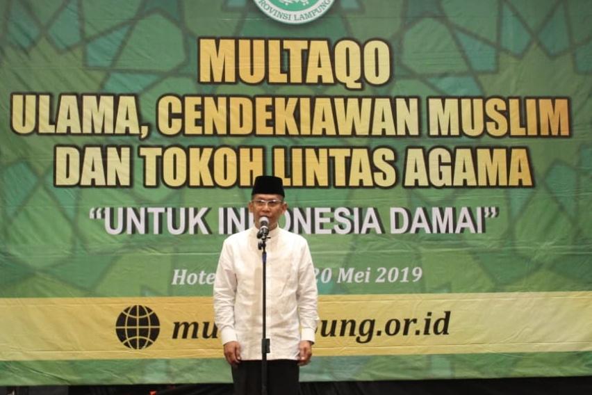 Ketua NU Lampung Sebut Pemilu 2019 Paling Kuat Sedot Energi Fisik dan Mental