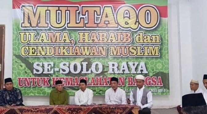 Multaqo Ulama Solo Raya Tegaskan 'People Power' Bentuk Pemberontakan
