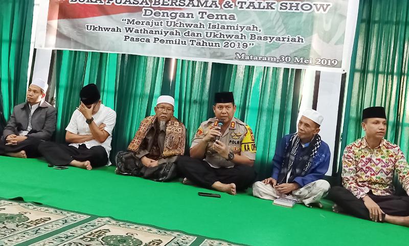 Kapolresta Mataram Apresiasi Ansor Gelar Dialog