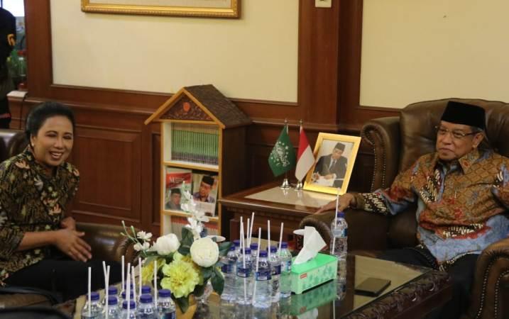 Dikunjungi Menteri Rini, Ketum PBNU Berharap Kerja Sama Perkuat Islam Moderat