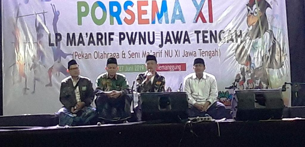 Ma'arif Bershalawat Meriahkan Porsema XI di Temanggung