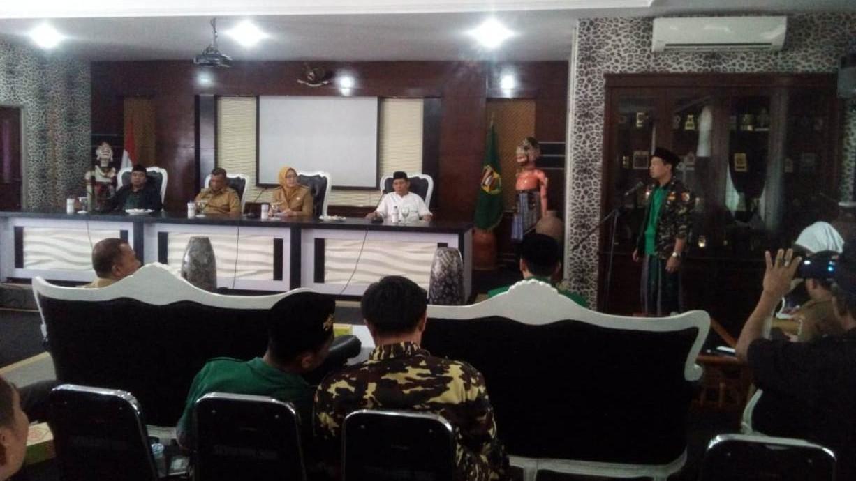 Kasus Pengibaran Bendera HTI, Ansor dan PCNU Temui Bupati Purwakarta