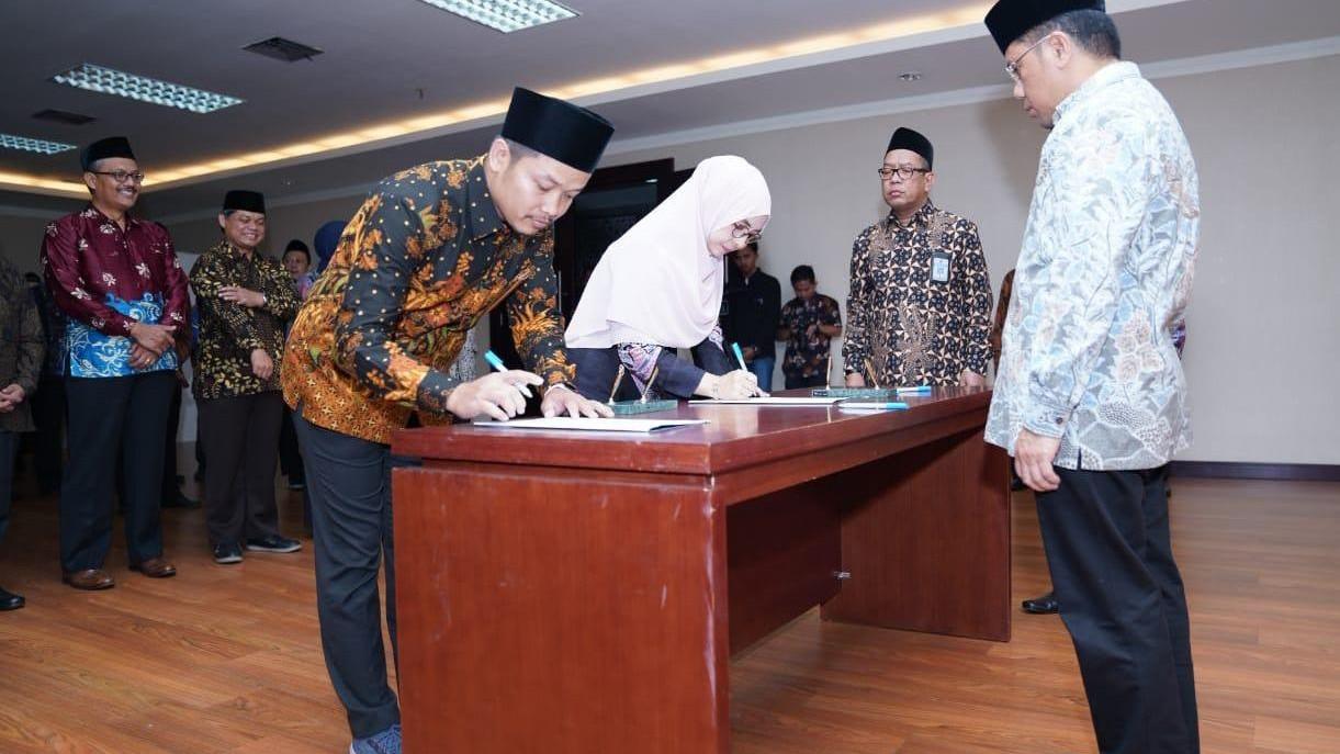 Kemenag Lantik 42 Pejabat Baru di Bidang Pendidikan Islam