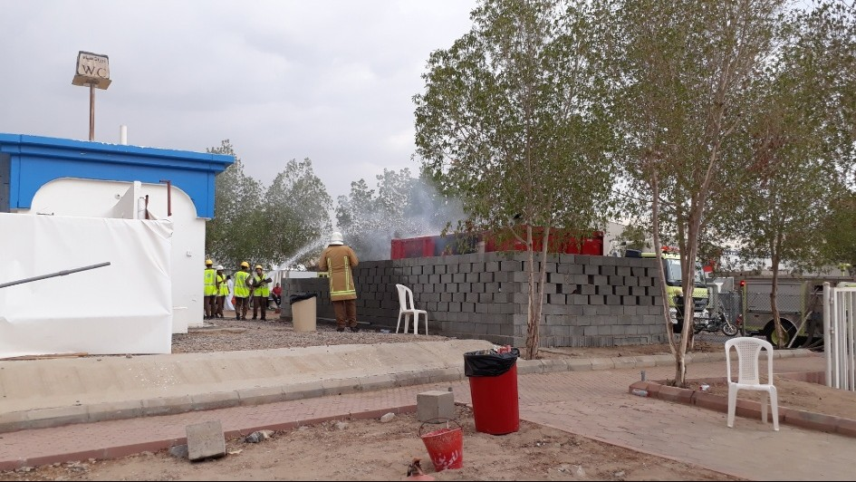 Mesin Pembangkit Listrik Maktab 21 Padang Arafah Terbakar