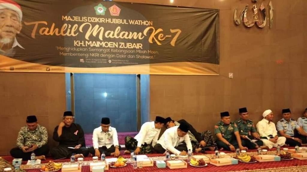 MDHW Gandeng Mabes TNI Gelar Tahlilan Malam Ketujuh Hari Mbah Maimoen
