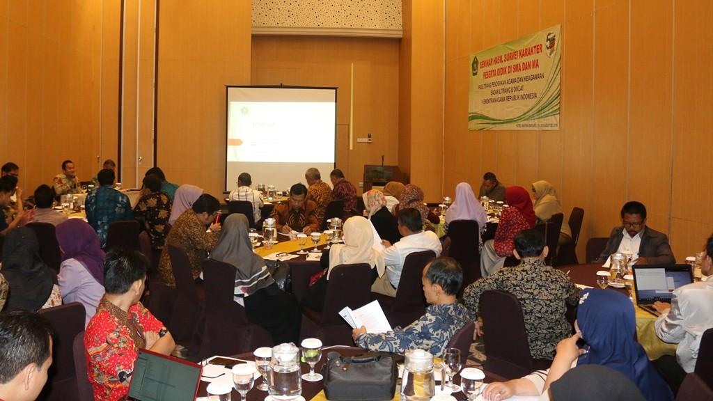 Balitbang Diklat Kemenag Seminarkan Survei Karakter Peserta Didik 2019
