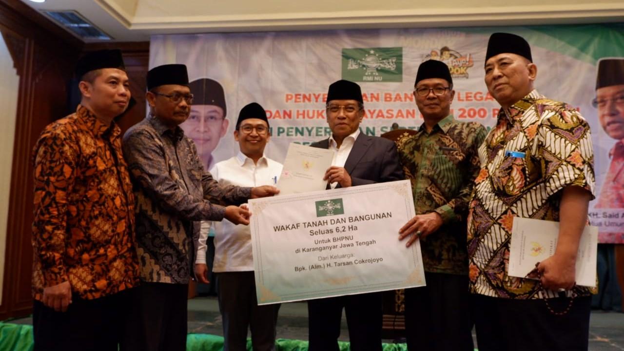 PBNU Terima Wakaf Tanah7Hektare di Solo Raya
