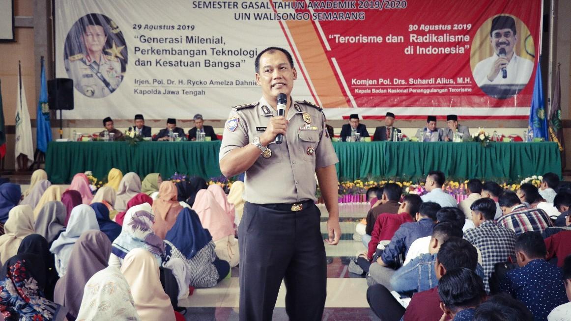 Polda Jateng Minta Mahasiswa UIN Semarang Selektif Pilih Informasi