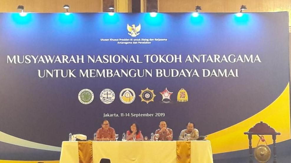 Ketua LPBINU Paparkan Kiprah NU dalam Aksi Kemanusian di Munas Tokoh Antaragama