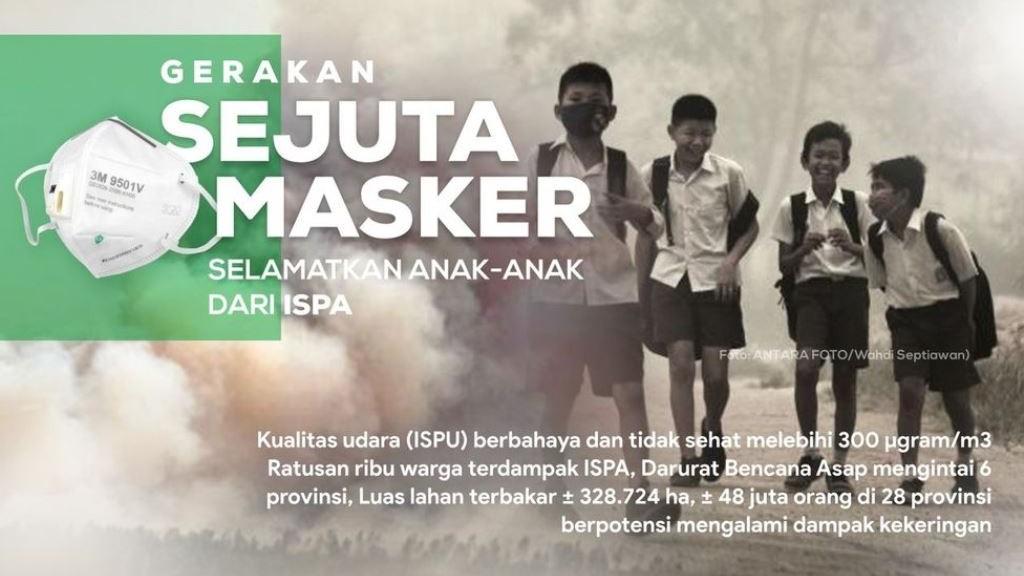 LAZISNU Galang Sejuta Masker untuk Warga Terdampak Karhutla