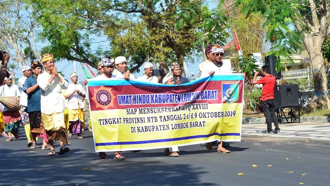 Puluhan Non-Muslim Turut Meriahkan Pawai Ta'aruf MTQ di NTB