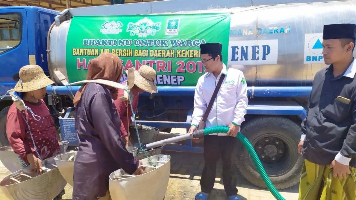 Giliran LAZISNU Sumenep Kirim Bantuan Air Bersih