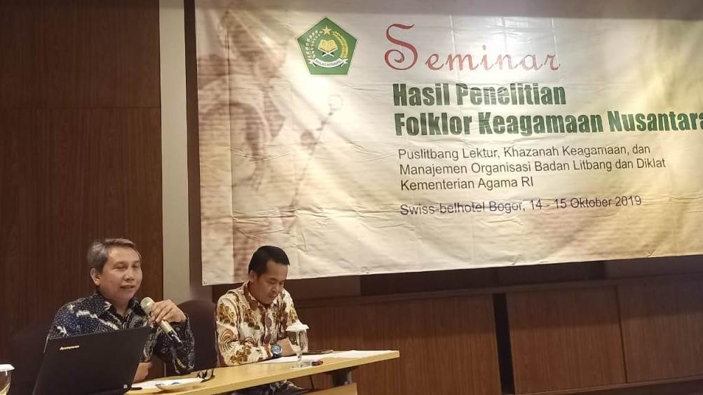 Kemenag Adakan Seminar Folklor Keagamaan Nusantara
