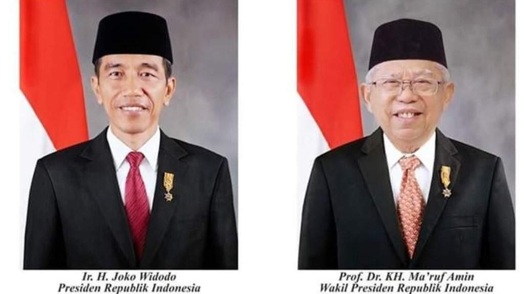 H-3 Pelantikan, Foto Resmi Presiden Jokowi dan Wapres Kiai Ma'ruf Dirilis