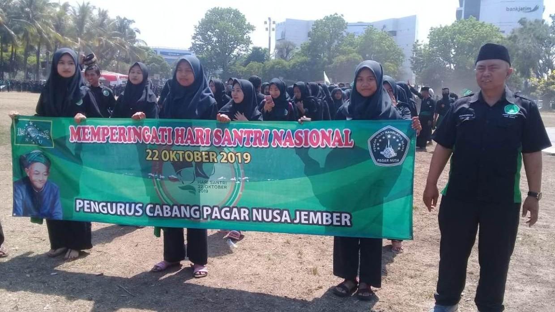 Pagar Nusa 'Kawal' Upacara Hari Santri Pemkab Jember