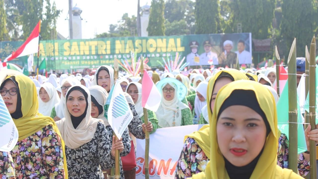 Apel dan Kirab Budaya Santri di Jombang Usai, Sampah Steril