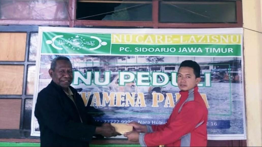 LAZISNU Sidoarjo Serahkan Bantuan untuk Korban Wamena