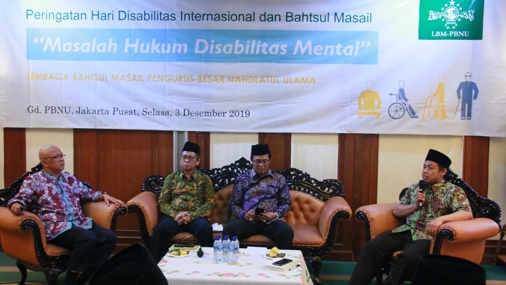 LBM PBNU Bahas Masalah Hukum Disabilitas Mental
