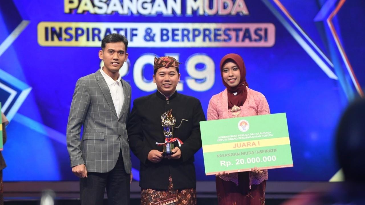 Sekretaris Umum PP IPNU Raih Juara 1 Pasangan Muda Inspiratif Nasional