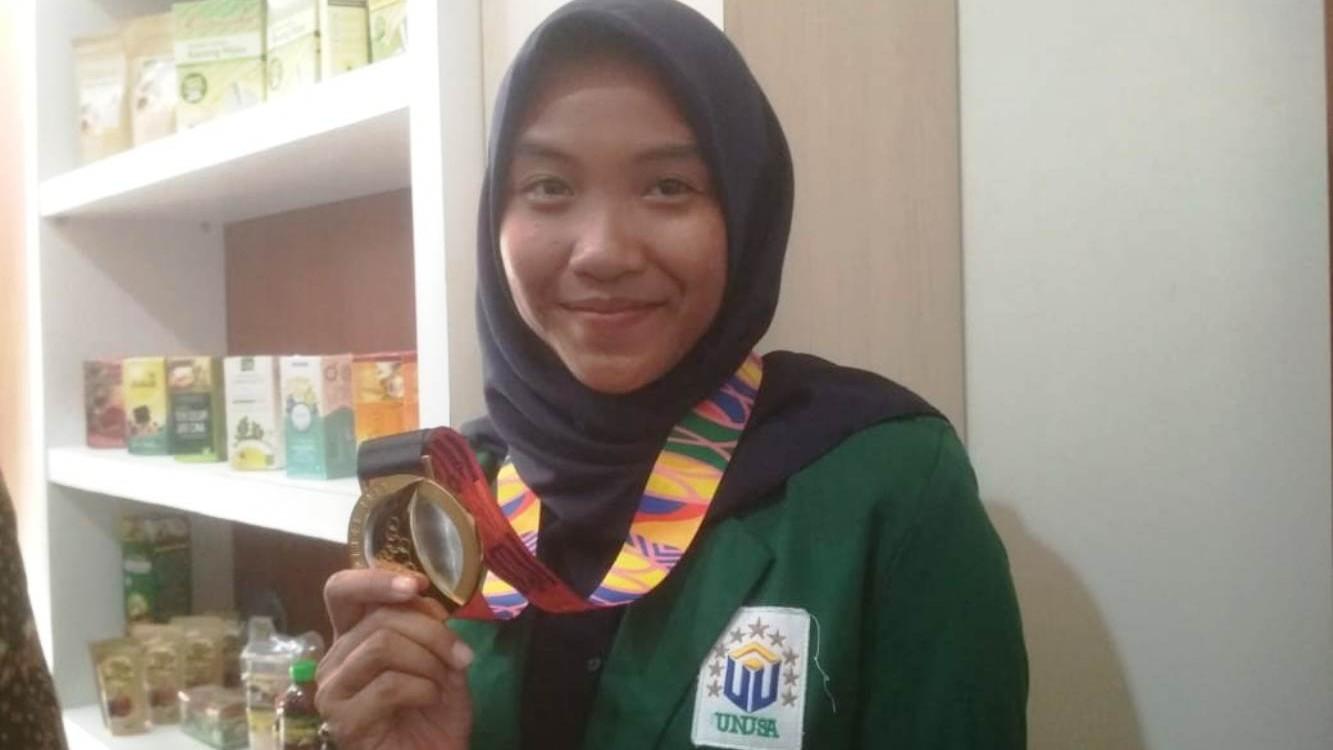 Mahasiswi Unusa Bawa Pulang Medali Emas Cabang Ski Air Sea Games